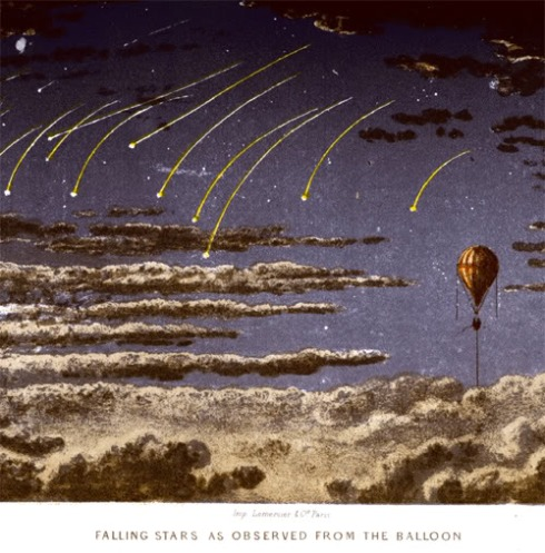 Viewing Falling Stars from Balloon